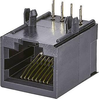 Modulaire gemonteerde socket, 1 poort, CAT 5 Socket, horizontale mount aantal pins: 8P8C A00-108-260-450 zwart EDAC A00-108-260-450 1 PC('s)