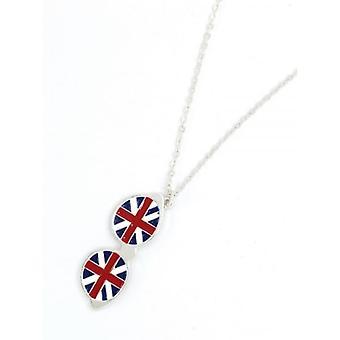 Union Jack dragen Union Jack zonnebril ketting