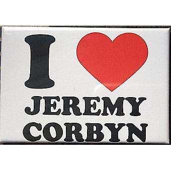 Rakastan (sydän) Jeremy Corbyn jääkaappimagneetti