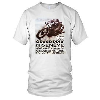 Grand Prix De Geneve moto classique moto motard Mens T Shirt