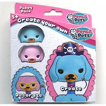 Pencil Pets - Pink & Blue Puppy Kit
