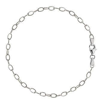 Ovale verdrillte Kabel Link Fußkette aus Sterlingsilber