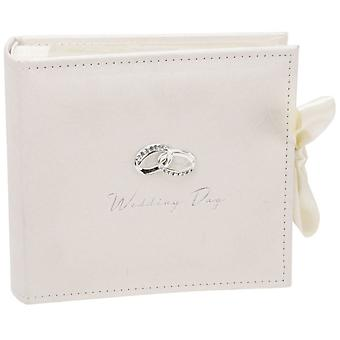 Juliana Amore Suede Wedding Photo Album 4x6 - Cream