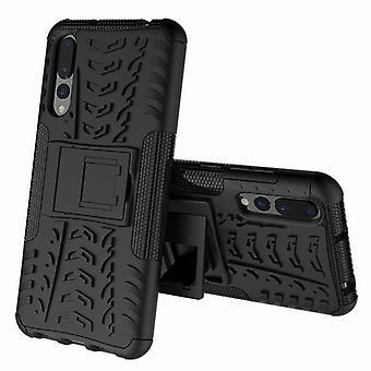 Hybrid Case 2teilig Outdoor Schwarz für Huawei Honor 8X Etui Tasche Hülle Cover Schutz