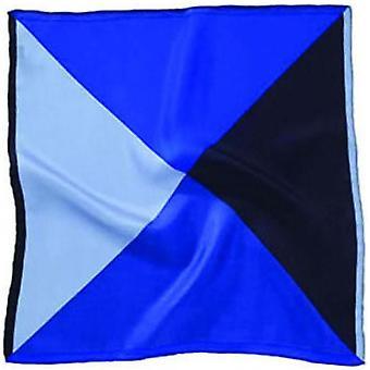 David Van Hagen 4 kolor Silk placu kieszeni - niebieski/czarny
