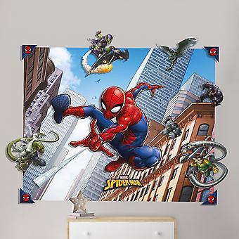スパイダーマンスパイダーマン3Dポップアウトウォール装飾ステッカー