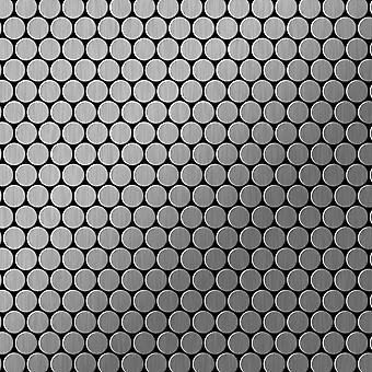 Metal mosaik Rustfrit stål ALLOY Penny-S-S-MB