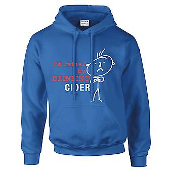 Men's I'd Rather Be Drinking Cider Hoodie Royal Blue Hoody