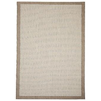 Buiten tapijt voor terras / balkon beige natuurlijke Essentials chroom 160 / 230 cm tapijt binnen / buiten - voor binnens- en buitenshuis