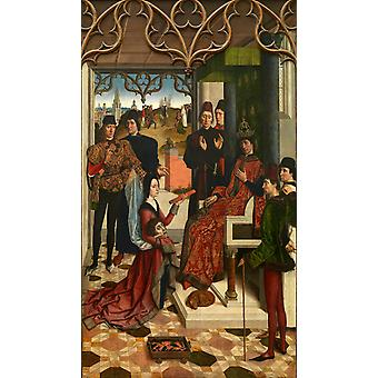 The Empress ' 's beproeving door brand voor, door Bouts, 60x34cm