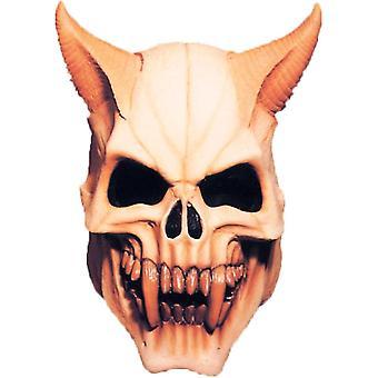 Djævelen dødningehoved maske til Halloween - 18057