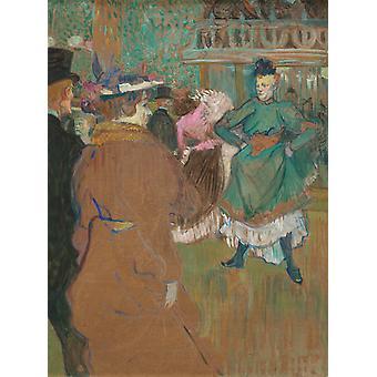 Le Depart du Qua drille au Moulin, Henri Toulouse-Lautrec, 50x37cm