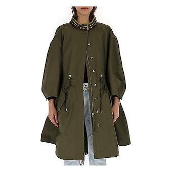 Alberta Ferretti 06791627v0428 Women's Green Acetate Outerwear Jacket