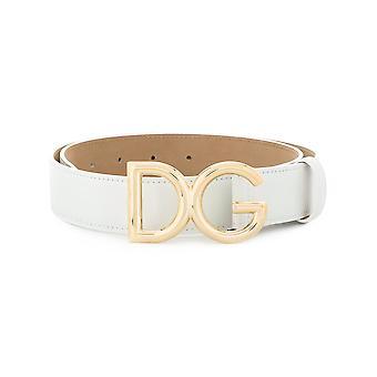 Dolce E Gabbana Be1324az8078n105 Women's White Leather Belt