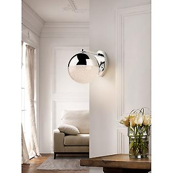 Schuller Modern Chrome Sphere Diamante Wall Lamp