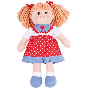 Bigjigs Toys Soft Plush Emily (34cm) Rag Doll Cuddly Toy