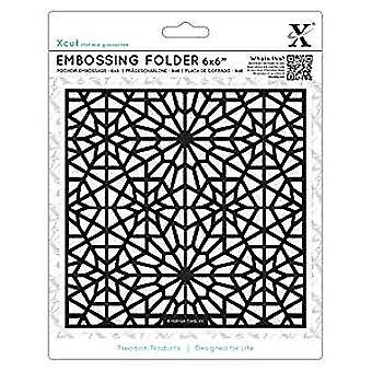 Xcut 6x6 Inch Embossing Folder Moroccan Star Pattern