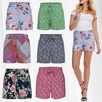 Womens Shorts Print Pattern Floral Summer Pants Flower Loose Fit Casual Trousers