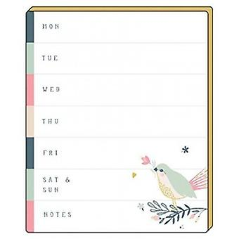 Artfile Wild Berry Weekly Planner Tear-Off Pad