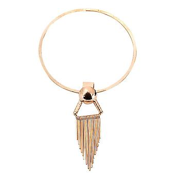 Ladies solid state chunky style statement chunky triangle necklace