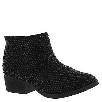 Very G Womens Blinged Closed Toe Ankle Fashion Boots