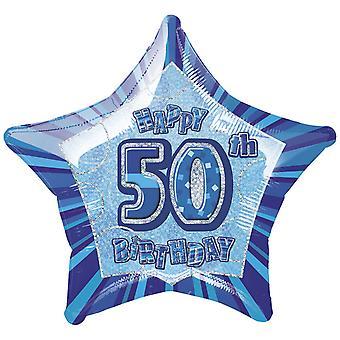 Parti unique Joyeux 50e anniversaire Star ballon de papier d'aluminium