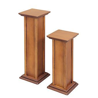 Paar rack balusters, hoogte 60 en 80 cm