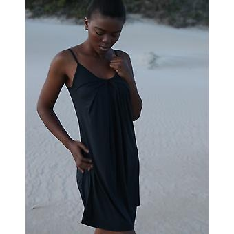 Strappy Dress With Front Pleats