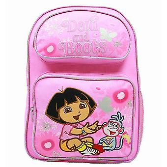 Medium Backpack - Dora the Explorer - Laughing w/Boots Fowers New Bag 37677