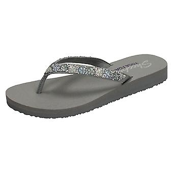 Ladies Skechers Yoga Foam Flip Flops Daisy Delight 31559
