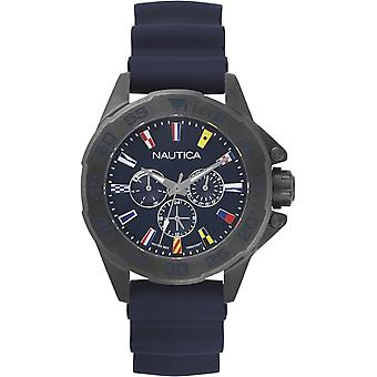 Nautica maimi flags Japanese Quartz Analog Man Watch with NAPMIA004 Silicone Bracelet