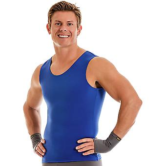 Insta Slim Pro Active Wear Muscle Tank Compression Slimming Under Shirt - Royal