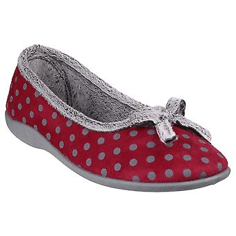 Fleet & Foster Womens Toulon Ballerina Slipper Red