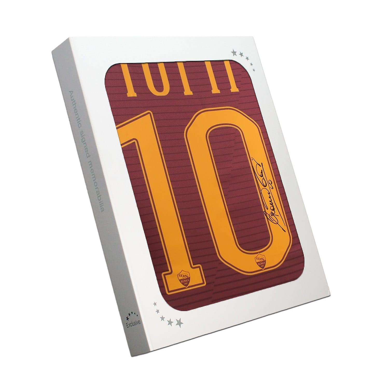 Francesco Totti Signed AS Roma 2016-17 Home Shirt: The Final Season In Gift Box