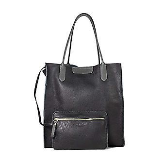 Gattabuia Iris Women's Shoulder Bag (Black/Piombo) 15x49x39 cm (W x H x L)