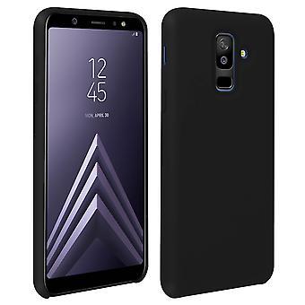 Samsung Galaxy a6 συν σιλικόνη ημι-άκαμπτη θήκη, μαλακή αφή ματ φινίρισμα-μαύρο