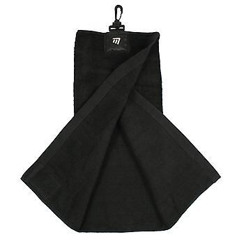 Masters Tri-Fold toalla de golf negro con clip para el accesorio de la bolsa de golf