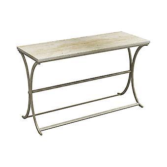 Antique brass, chalk sanibel sofa table stein world