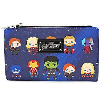 New Avengers Chibi Zip Around Wallet