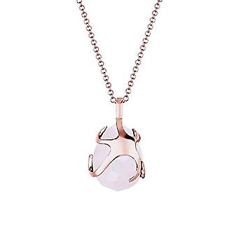 Elli Necklace with Silver Pendant 925 with Pear-shaped Pink Quartz - 60 cm