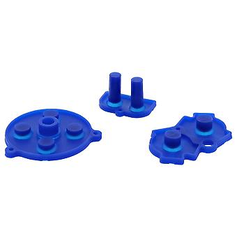 Conductive contacts for nintendo game boy advance silicone a b d-pad start select pad - blue