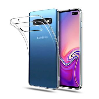 Stoff zertifiziert® Transparent Clear Case Cover Silikon TPU Fall Samsung Galaxy S10 Plus