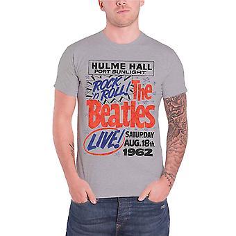 البيتلز تي قميص هولم قاعة روك اند رول 1962 الرسمية الرجال قميص رمادي جديد