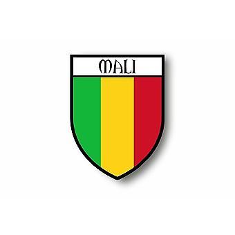 Sticker Adesivo Moto Blason Città Bandiera Maliano
