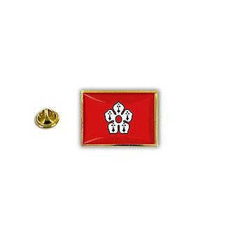Pins Pin Badge Pin's Metal Broche Drapeau Anglais Royaume Uni Leicester