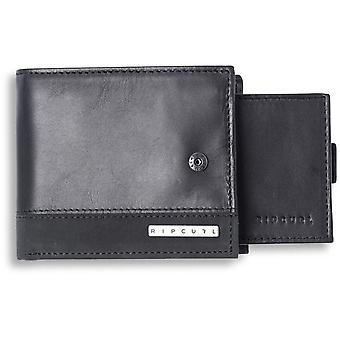 Rip Curl Mission Clip RFID 2 In 1 Leather Wallet in Black