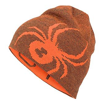 Spyder REVERSIBLE BUG Kids Ski Hat - bryte orange