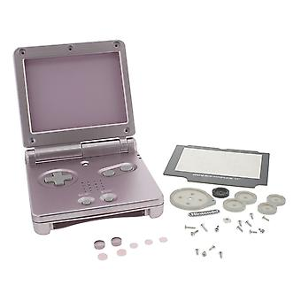 Replacement housing shell case kit for nintendo game boy advance sp gba - pearl pink