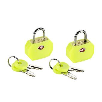 Lewis N. Clark TSA Sentry Mini Padlock, 2 Pack, Yellow #TSA14YEL