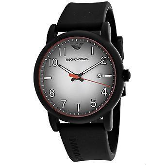 Armani Men-apos;s Three Hand Silver Dial Watch - AR11176
